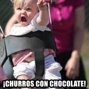 little girl swing -  ¡CHURROS CON CHOCOLATE!