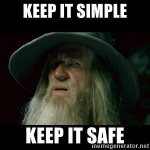 no memory gandalf - Keep It Simple Keep it safe