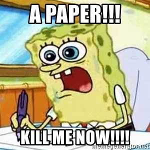 Spongebob What I Learned In Boating School Is - A PAPER!!! KILL ME NOW!!!!