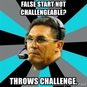 Stoic Ron - False start not challengeable? Throws Challenge.
