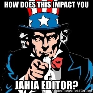 I Want You - How does this impact you Jahia editor?
