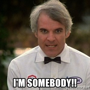 Steve Martin The Jerk -  I'm SOMEBODY!!