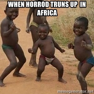 Dancing African Kid - when horrod truns up  in africa