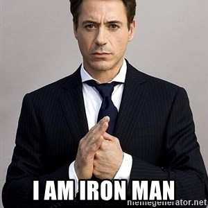 Robert Downey Jr. -  I am iron man