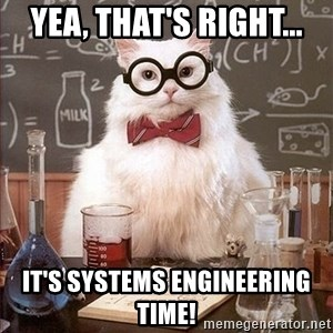 Science Cat - Yea, That's Right... It's Systems Engineering Time!