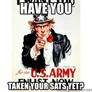 I Want You - HAVE YOU TAKEN YOUR SATs YET?