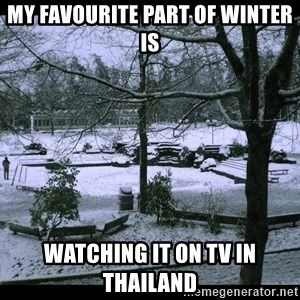 UVIC SNOWDAY - My Favourite part of winter is Watching it on tv in Thailand