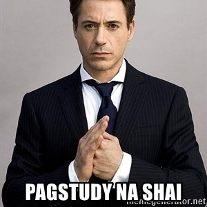 Robert Downey Jr. -  pagstudy na Shai