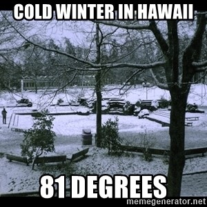 UVIC SNOWDAY - Cold Winter in Hawaii 81 Degrees