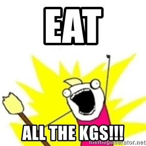 x all the y - Eat All the kgs!!!