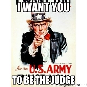 I Want You - I want you To be the judge