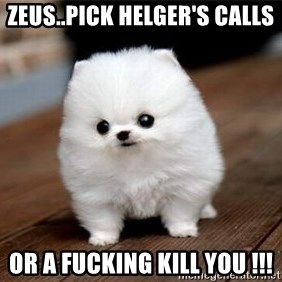 more meat for my duck - zeus..pick helger's calls or a fucking kill you !!!