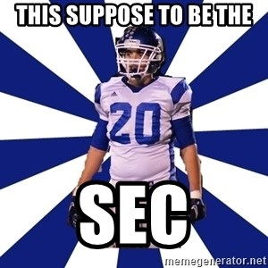 Highschool Football Kid - This suppose to be the SEC