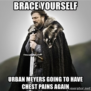 ned stark as the doctor - Brace yourself Urban Meyers going to have chest pains again