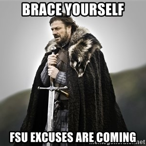 ned stark as the doctor - BRACE YOURSELF FSU EXCUSES ARE COMING