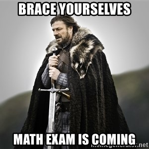 ned stark as the doctor - brace yourselves math exam is coming