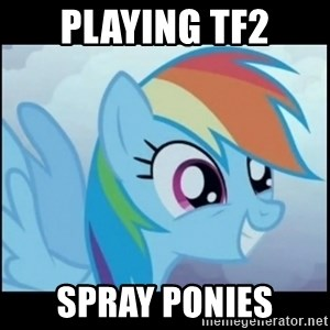Post Ponies - PLAYING TF2 SPRAY PONIES