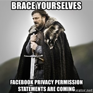 ned stark as the doctor - Brace Yourselves Facebook Privacy Permission Statements are Coming