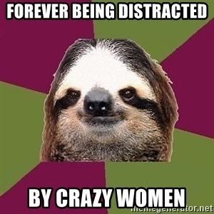 Just-Lazy-Sloth - Forever being distracted  by crazy women