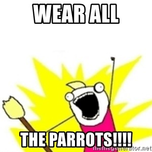 x all the y - WEAR ALL THE PARROTS!!!!