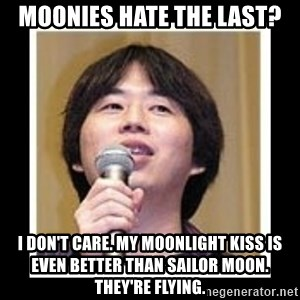 masashi kishimoto - MOONIES HATE THE LAST? I DON'T CARE. MY MOONLIGHT KISS IS EVEN BETTER THAN SAILOR MOON. THEY'RE FLYING.