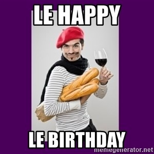 stereotypical french man - Le Happy Le Birthday