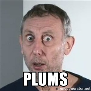 Michael Rosen stares into your soul -  PLUMS