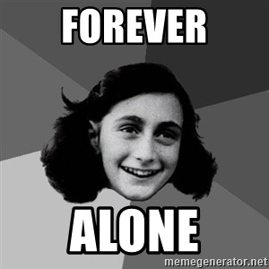 Anne Frank Lol - Forever Alone