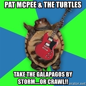 Aspiring Musician Turtle - Pat McPee & The Turtles Take The Galapagos By Storm....or crawl!!
