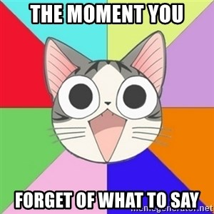 Nya Typical Anime Fans  - The moment you  forget of what to say