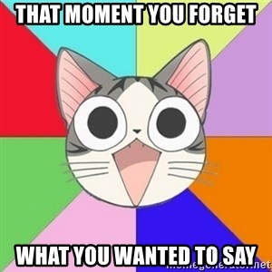 Nya Typical Anime Fans  - That moment you forget what you wanted to say