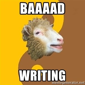 Sheep Obscurantist - BAAAAD WRITING