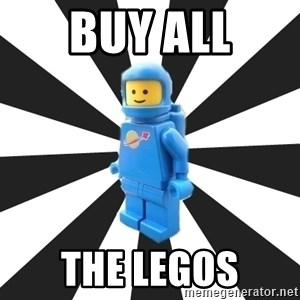 LEGO man - Buy all the legos