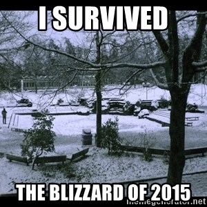 UVIC SNOWDAY - I survived  The Blizzard of 2015