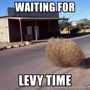 Tumbleweed - waiting for  levy time