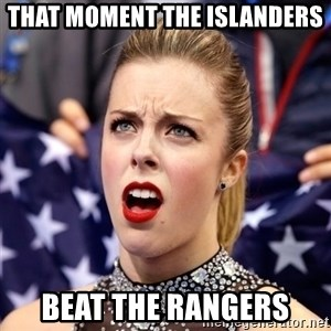 Ashley Wagner Shocker - That moment the Islanders Beat the Rangers