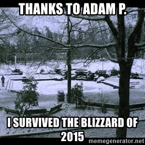 UVIC SNOWDAY - Thanks to Adam P. I survived the blizzard of 2015