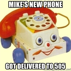 Sinister Phone - mike's new phone got delivered to 505