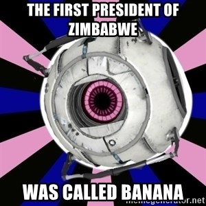 """""""Did you know"""" Fun Fact sphere  - The first president of zimbabwe Was called banana"""