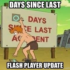 days since - Days since last Flash Player Update