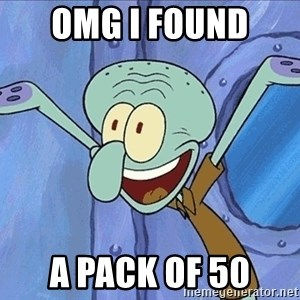 Guess What Squidward - OMG I Found  a pack of 50