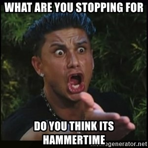 Dj Pauly D - what are you stopping for do you think its hammertime