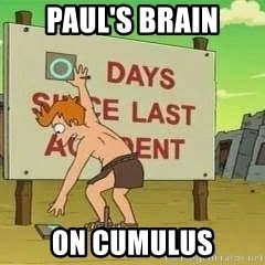 days since - Paul's brain on Cumulus
