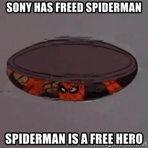 Spiderman in Sewer - Sony has freed spiderman spiderman is a free hero