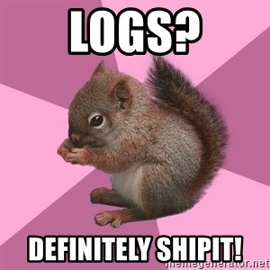 Shipper Squirrel - Logs? Definitely Shipit!