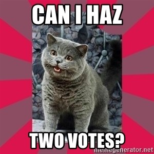 I can haz - CAN I HAZ TWO VOTES?