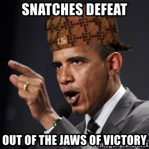 Scumbag Obama Claus - snatches defeat out of the jaws of victory
