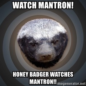 Fearless Honeybadger - Watch MANTRON! Honey Badger watches MANTRON!!