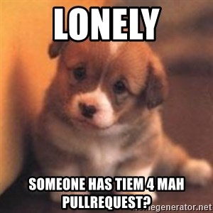 cute puppy - Lonely SOMEONE HAS TIEM 4 MAH PULLREQUEST?