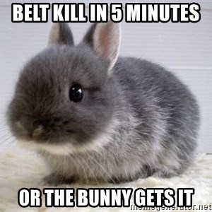 ADHD Bunny - belt kill in 5 minutes or the bunny gets it